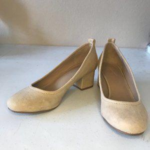 Universal Thread Tan Short Heels